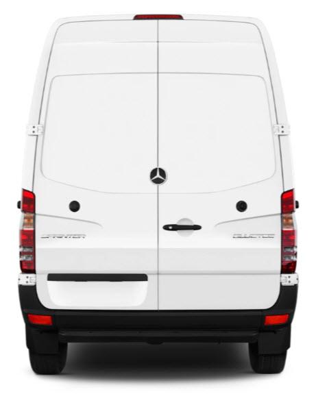 Mercedes Sprinter Van Rear View