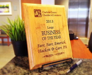 Charlotte County Chamber Selects Farr Law Firm as Business of the Year | Farr Law | Serving Southwest Florida (image)