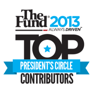 The Fund President's Circle and Top Contributor for 2013