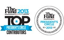The Fund President's Circle and a Top Contributor for work in 2013