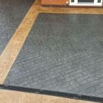 Pattern Imprinted Concrete Driveway in Surrey with light edging