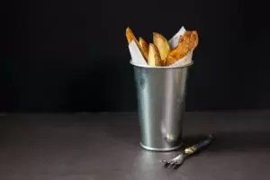 British food fortnight potato wedges
