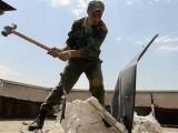 جمع آوری بشقابهای ماهوارهای در استان کردستان
