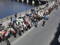 هزاران نفر در تظاهرات استکهلم در مورد قتل عام بیش از ۳۰۰۰ نفر از اعضای سازمان مجاهدین خلق در کمپ لیبرتی / عراق هشدار دادند