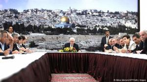 اجلاس جنبش آزادیبخش فلسطین در رامالله در ۱۸ ژوئیه ۲۰۱۳ در رابطه با ازسرگیری مذاکرات صلح با اسرائیل