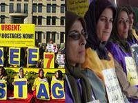 خانم مریم رجوی پايان اعتصاب غذای جهانی برای ازادی 7 گروگان اشرفی را اعلام کرد