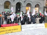 تظاهرات کنندگان خواستار لغو سفر وزیر خارجه سوئد به ایران شدند