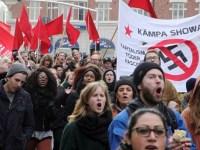 تظاهرات دهها هزار نفر علیه نازیسم در مالمو، سوئد