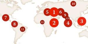در این کشورها قاتلین روزنامه نگاران مجازات نمیشوند