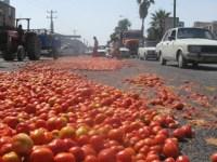 کشاورزان معترض رودبار جنوب بدلیل بالا رفتن هزینه ها و ضرر کلان، محصولاتشان را مقابل فرمانداری تظاهرات کردند