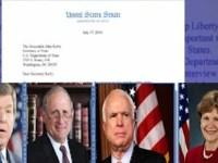 چهار سناتور آمریکایی طی نامه ای به جان کری خواستار تضمین حفاظت ساکنان کمپ لیبرتی شدند