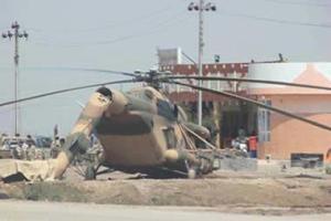سرنگونی یک هلیکوپتر نظامی متعلق به دولت مالکی در شهر فلوجه