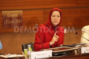 تصویری از خانم مریم رجوی در سازمان ملل 13 اوت 2014
