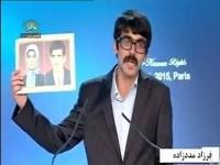 فیلم – سخنرانی زندانی سیاسی تازه از بند رسته، فرزاد مددزاده در پاریس