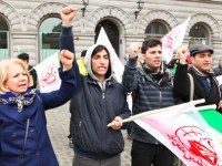 گزارش تصویری از آکسیون  محکومیت نقض حقوق بشر در ایران – استکهلم