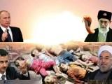 آخوند روحانی ضمن حمایت از جنایات روسیه در سوریه با منطقه پرواز ممنوع در سوریه مخالفت کرد