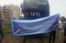 بستن مسیر قطار تهران- مشهد توسط مردم ورامین