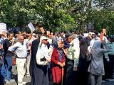تجمع و راهپیمایی غارتشدگان کاسپین در تهران و رشت