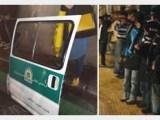 شلیک هوایی، درگیری و کنده شدن درب ون گشت ارشاد در تهران