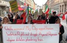 حمایت از کارگران ایران در روزجهانی کارگر در استکهلم