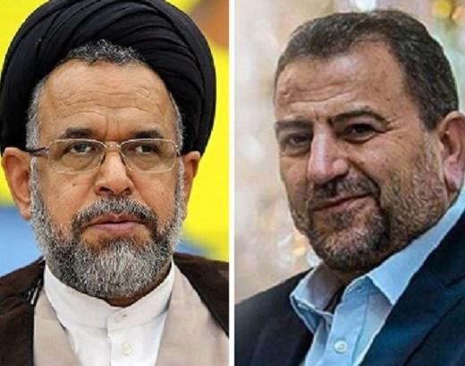 """دیدار اعضای ارشد """"حماس"""" با وزیر اطلاعات رژیم"""