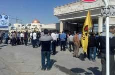 اعتراض کارگران شرکت هیکوی و بستن راه اهن اراک
