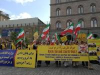 انعکاسات بی سابقه تظاهرات ضد ظریف مقاومت در استکهلم