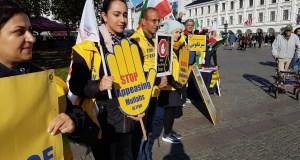 آکسیون در شهرهای مختلف سوئد در حمایت از اعتراضات مردم ایران