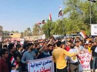 درگیری در بغداد؛ تظاهرات دانشآموزان و معلمان