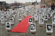 نمایشگاه عکس و آکسیون در استکهلم در حمایت از قیام مردم ایران