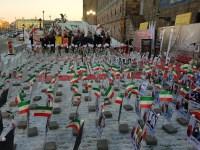 تصاویری از برگزاری نمایشگاه عکس از شهدای قیام – استکهلم