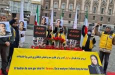 آکسیون در حمایت از شورش مردم سراوان در استکهلم