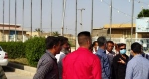 تجمع کارگران شهرداری خرمشهر و اروندکنار برای معوقات مزدی