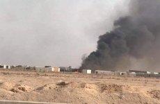 حمله پهپادی به انبار مهمات شبه نظامیان رژیم موسوم به حشد شعبی در نجف عراق