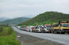 ورود کامیون های رژیم  ایران به قره باغ و لاچین جمهوری  اذربایجان  ممنوع شد