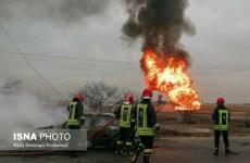 انفجار لوله گاز در مسیر جاده رامشیر به اهواز