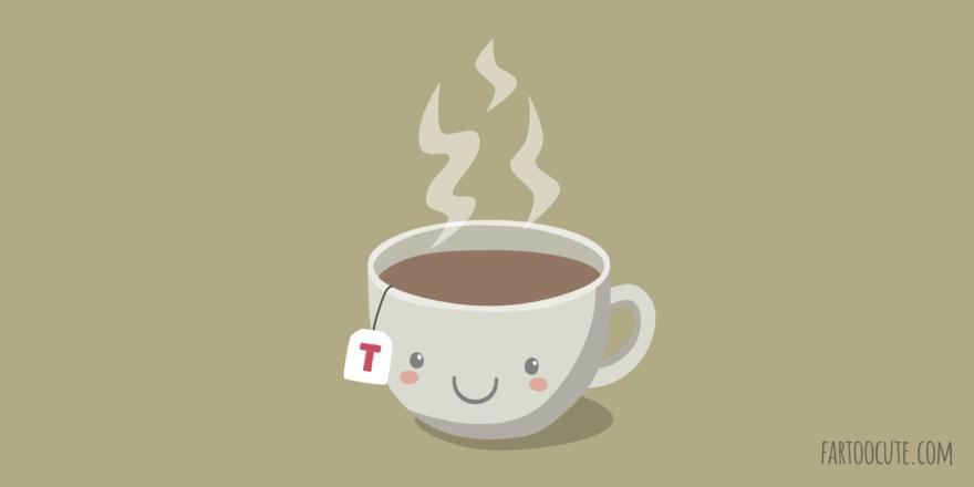 Cute Tea Cup Cartoon