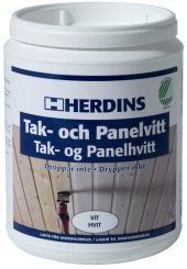 HERDINS TAK- OG PANELHVITT 1L
