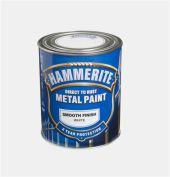HAMMERITE GLATT FINISH HVIT  750ML