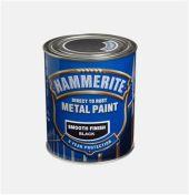 HAMMERITE GLATT FINISH SORT  750ML