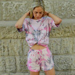 Batik / Tie-Dye Shorts Galaxy Smash- Handmade