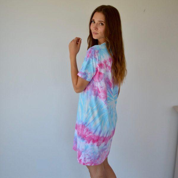 Batik / Tie-Dye Kleid Hidden Heart - Handmade, Organic