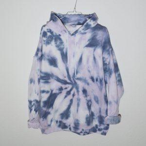 Batik / Tie-Dye Hoodie Milky Way - Handmade