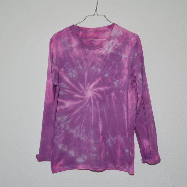 Batik / Tie-Dye Longsleeve Berry - Handmade, Organic