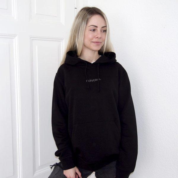 Organic Oversize Basic Hoodie - Female Model