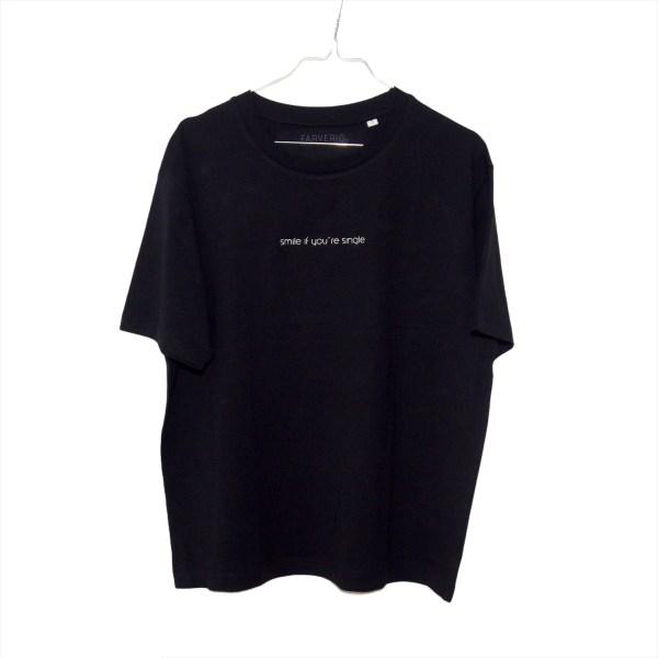 Single Shirt Schwarz - Organic, Unisex, Oversize