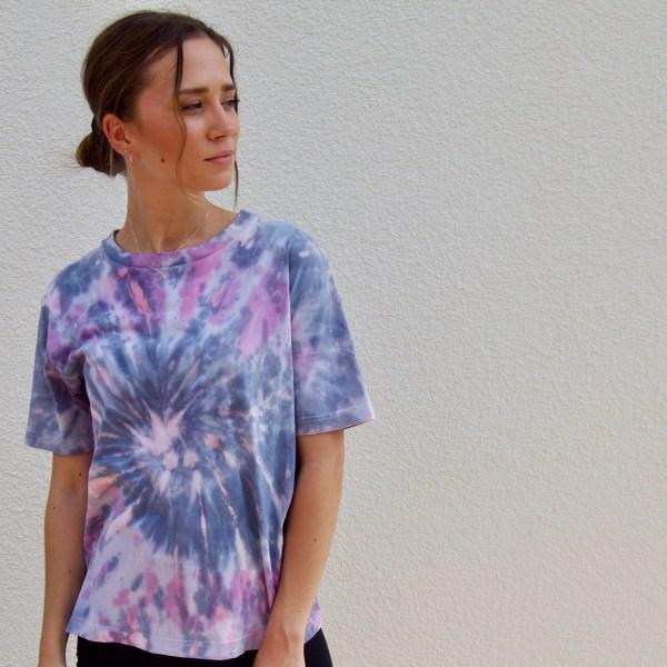 Batik / Tie-Dye Shirt Sunset - Organic, Handmade