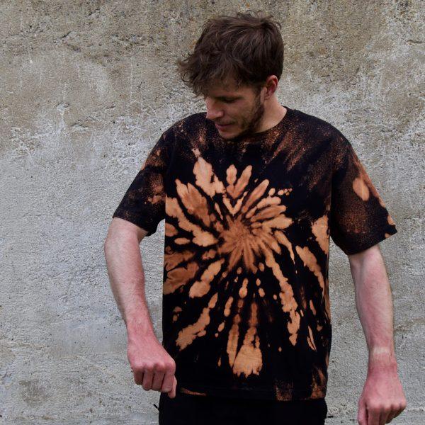 Batik / Tie-Dye Shirt Firebrick - Organic, Handmade