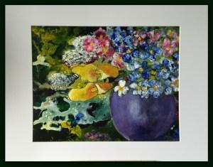 Blomstersymfoni 20 - 25 i glas og ramme