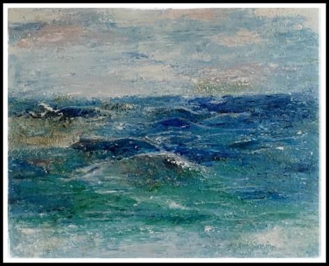 Ved havet spartel maleri ,  40 - 50